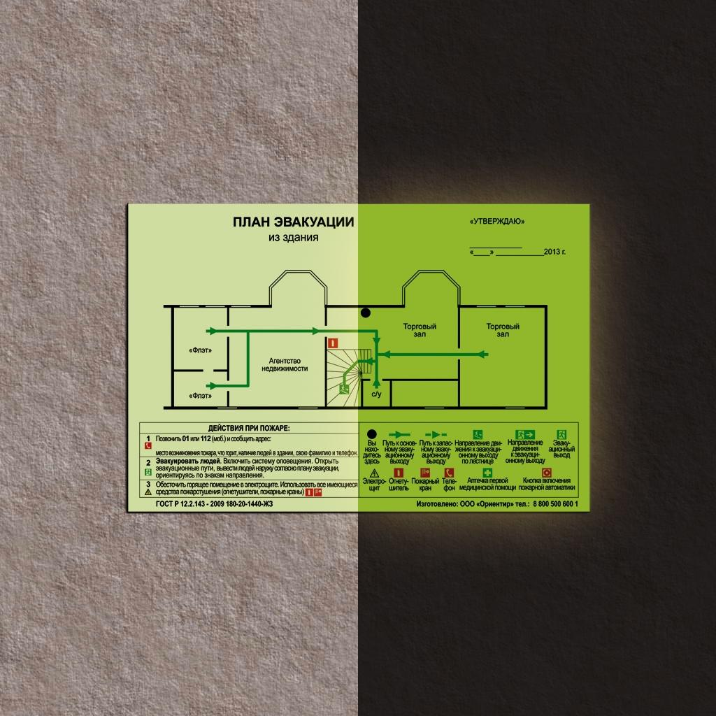 капуста завоевывает фотолюминесцентное покрытие для схем эвакуации себя